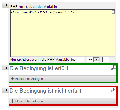 Bedingter PHP Container
