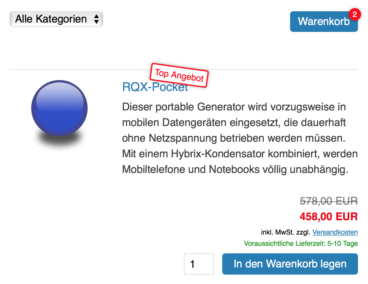 Angebote mit dem Mobile First Mini-Shop